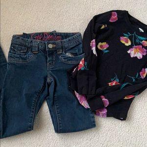 Gap pants/ Old Navy long sleeve shirt